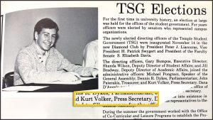 Long before he testified for the impeachment proceedings, former U.S. ambassador Kurt Volker went to Temple.