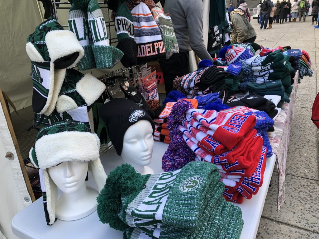 Philly sports winterwear for the devoted fan