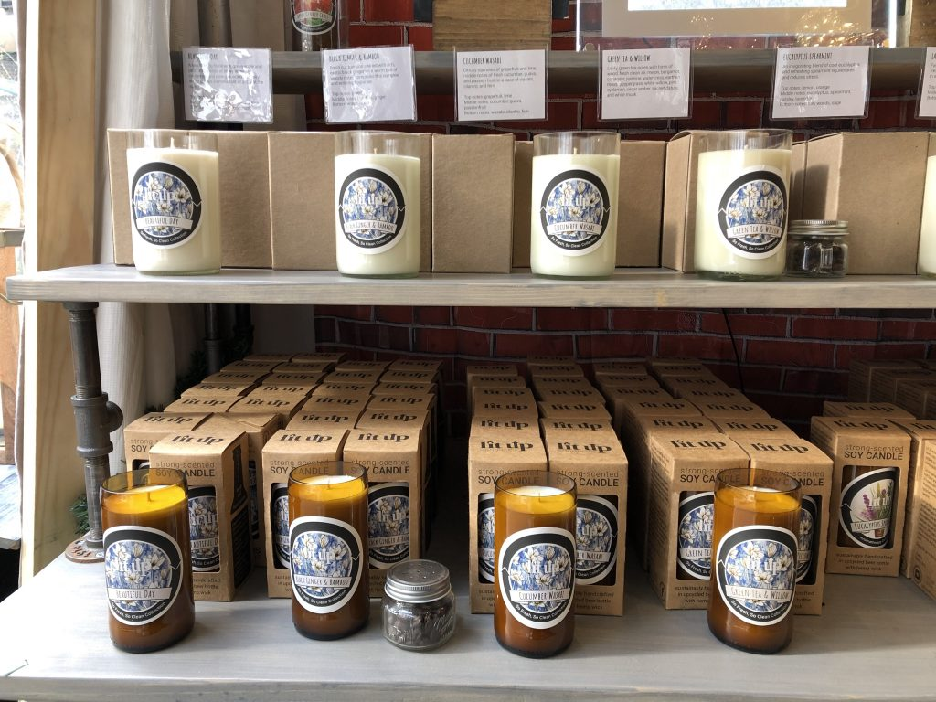 Some warm, fragrant and locally made candles