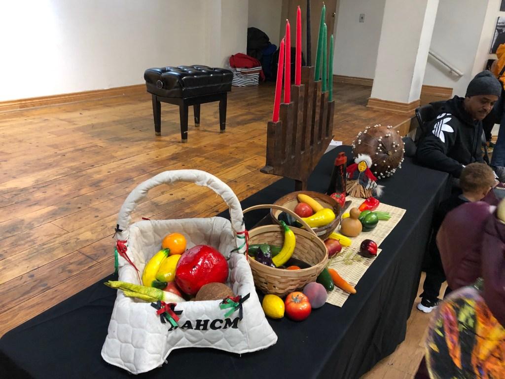 The traditional Kwanzaa table