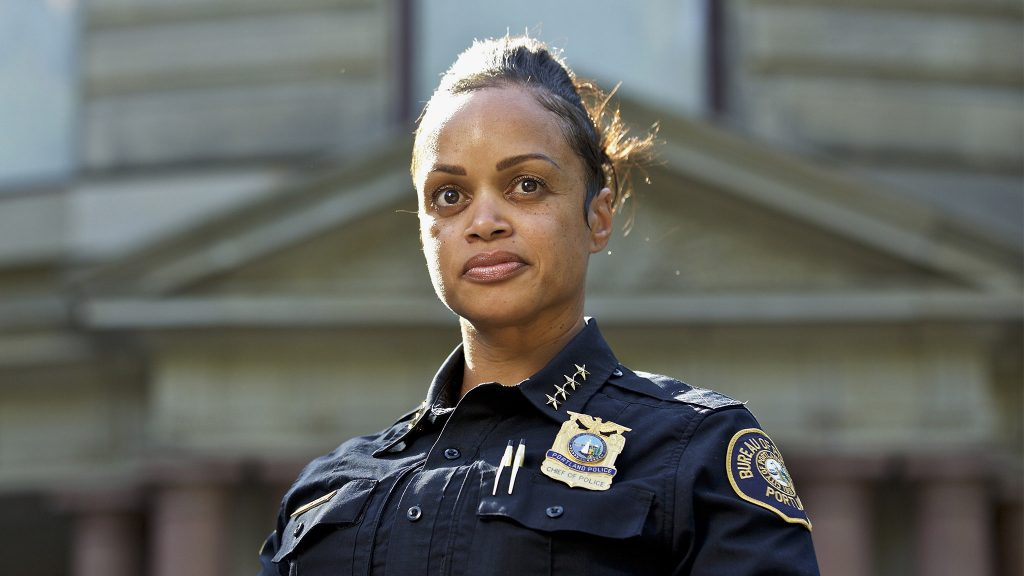 Then-Portland Police Chief Danielle Outlaw in August 2019