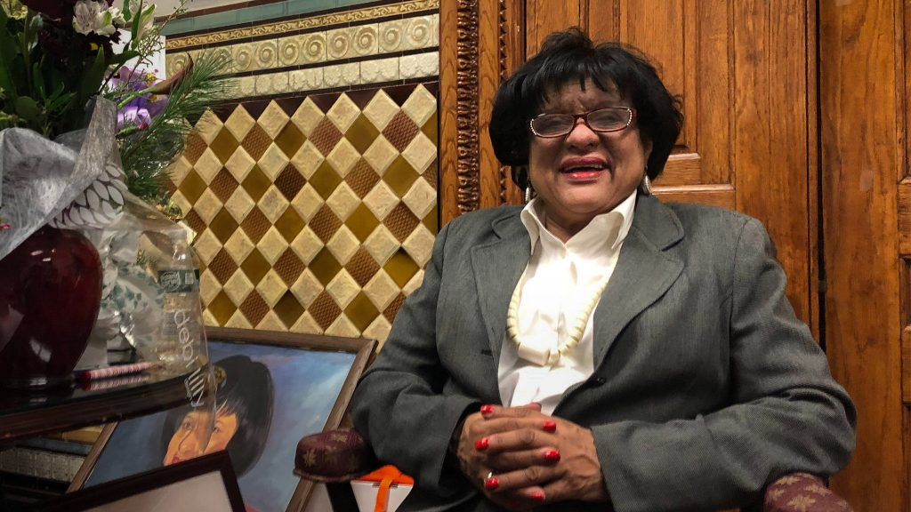 Outgoing Councilmember Jannie Blackwell in the City Hall office she's occupied for the better part of four decades