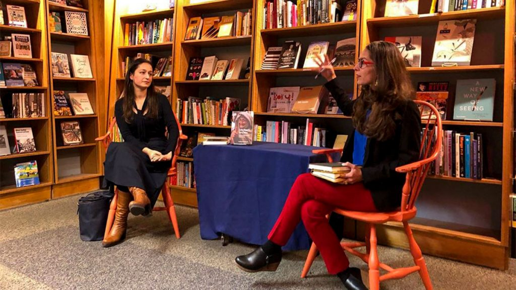 Dr. Amber Abbas and Dr. Shandana Khan speak at a PBC event in mid-November