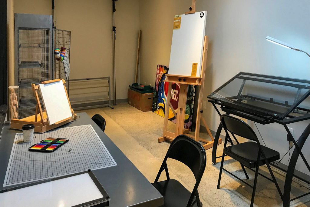 One of the artist studios at REC Philly