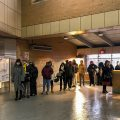 Long lines plagued the SEPTA kiosks at the 46th Street MFL stop on Monday morning