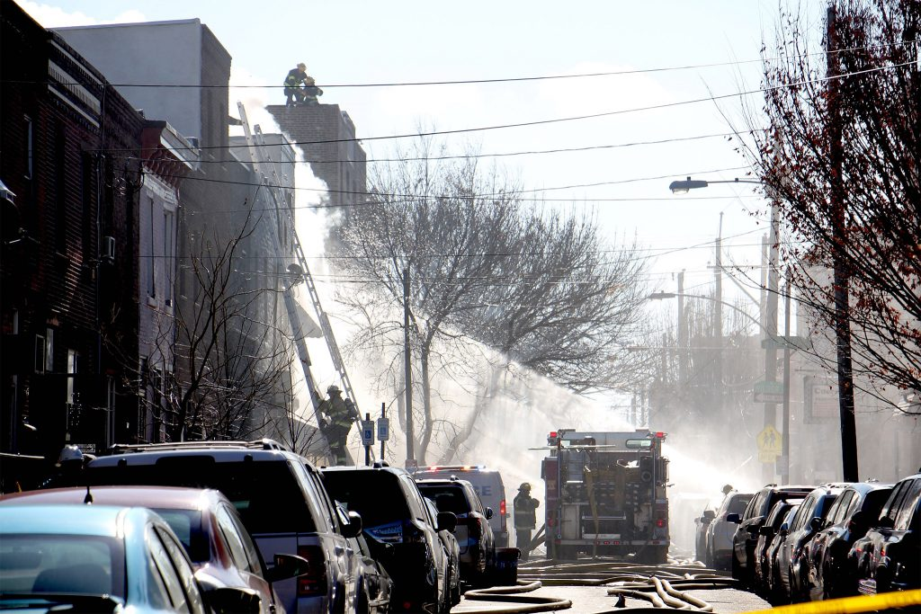 People being evacuated from their South Philly homes on Dec. 19