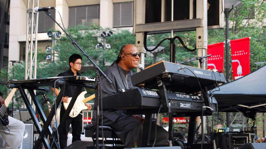 Stevie Wonder performs at Dilworth Park in 2015
