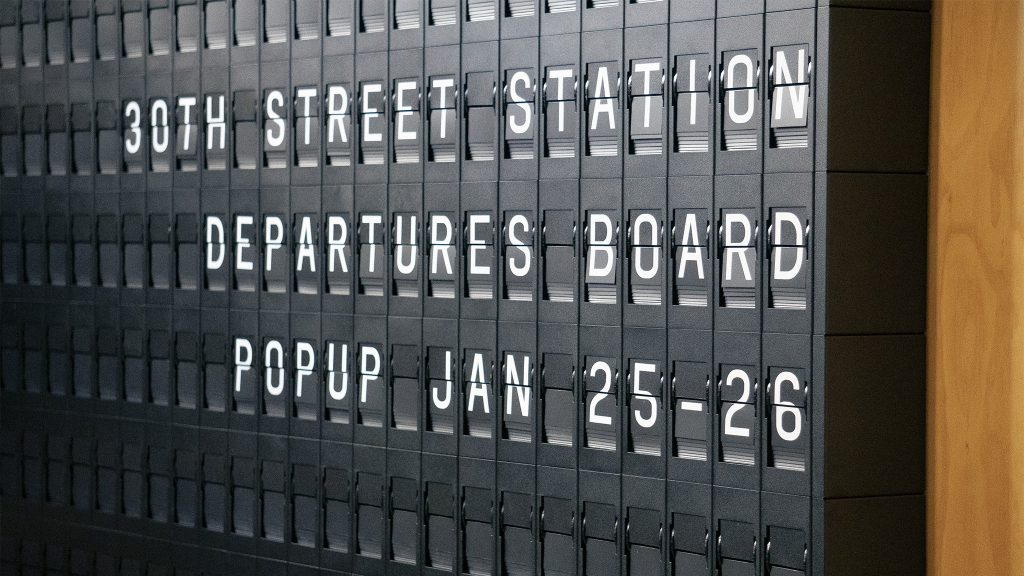 Oat Foundry's modern split-flap board