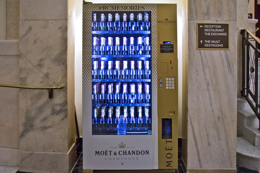 Yes, there's a champagne vending machine