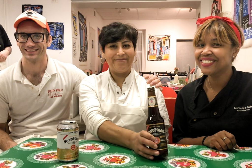 South Philly Barbacoa owners Ben Miller and Cristina Martinez with chef Maria Mercedes Grubb