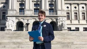 17-year-old Jack DiPrimio went to Harrisburg to file his delegate petitions in person, even though it's not required