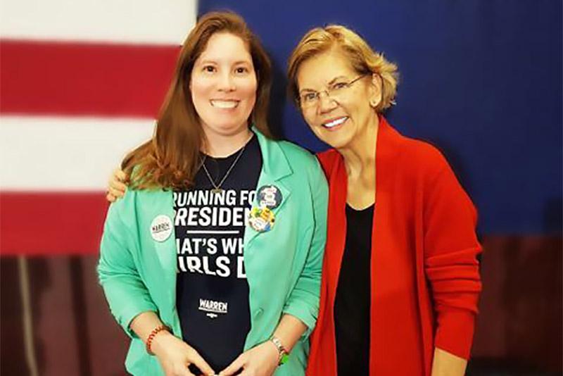 Johanna Mudry wants to be a delegate for Elizabeth Warren