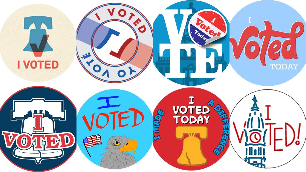 Some of the finalists for Philly's new Election Day sticker