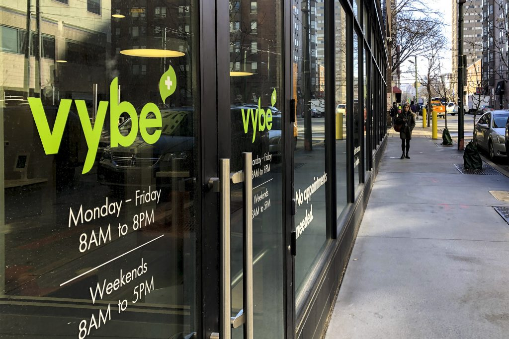 The Vybe urgent care at 36th and Market