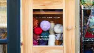 The Little Free Fiber Library at Wild Hand in West Mt. Airy is one of the first of its kind anywhere