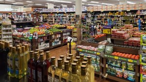 Shelves at the South Street ACME were pretty well stocked on Monday, Mar. 16