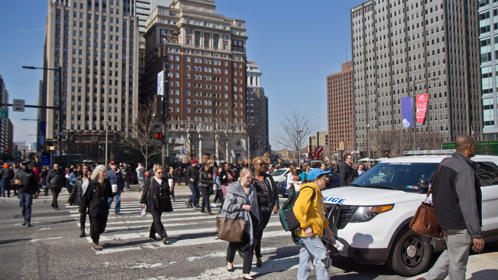 People were evacuated from several buildings surrounding Love Park