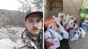 Philly native and 'Prepper Broadcast Network' host James Walton; a local prepper's recent grocery haul