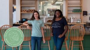Triple Bottom CEO Tess Hart and tasting room GM Sola Onitiri