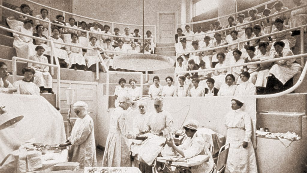 Class underway at the first women's medical school in the world