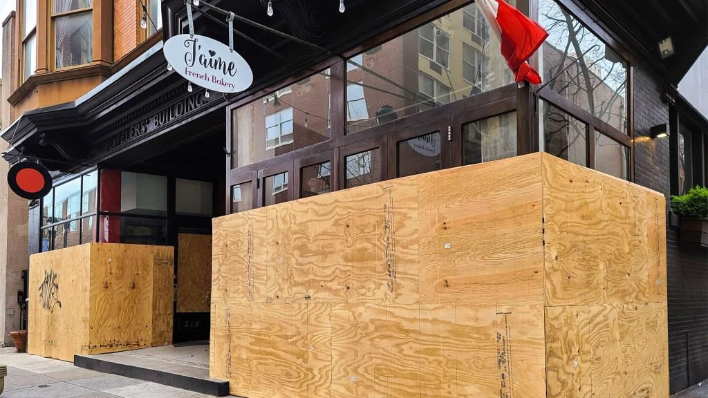 Boarded up storefronts are proliferating around Philadelphia
