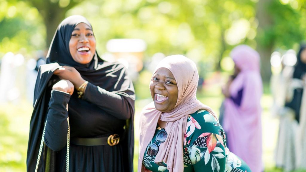Community members enjoying fellowship at Philly Eid in the Park Festival 2019