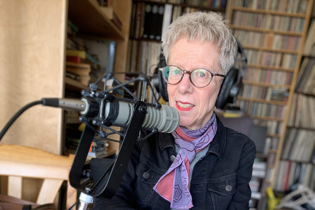 Terry Gross at the 'Fresh Air' home studio