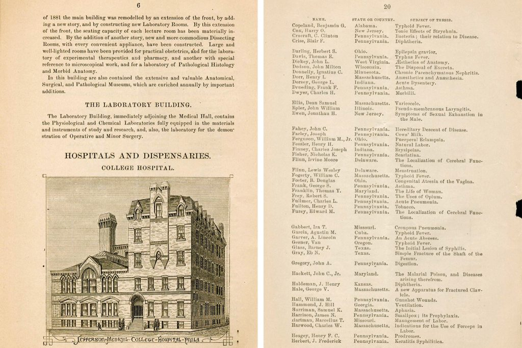 Fifty-Ninth Annual Announcement of the Jefferson Medical College
