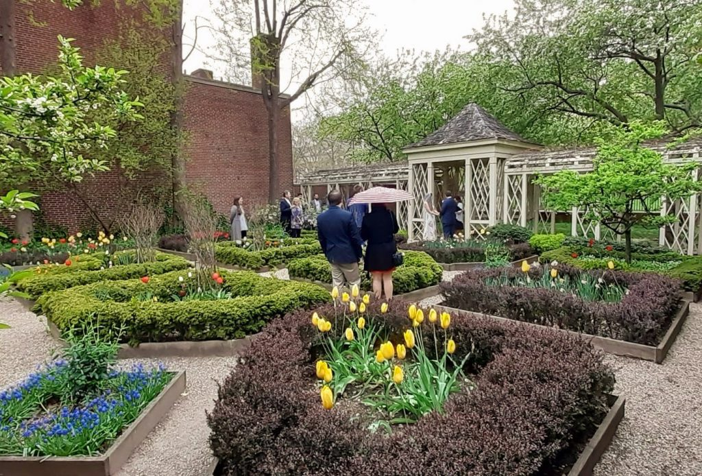 The 18th Century Garden at Independence National Historical Park made a perfect venue