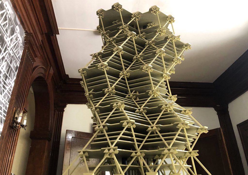 The City Tower prototype was recently exhibited at the Philadelphia Art Alliance
