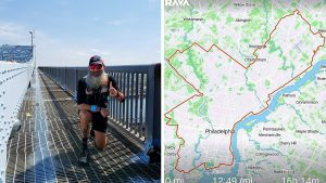 Left: Finishing the George C. Platt Bridge, one of the mentally toughest stretches of the route