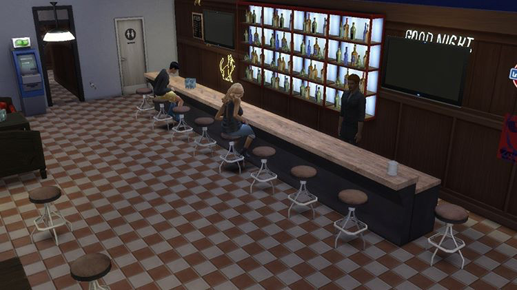 Sims recreation of the Monkey Club
