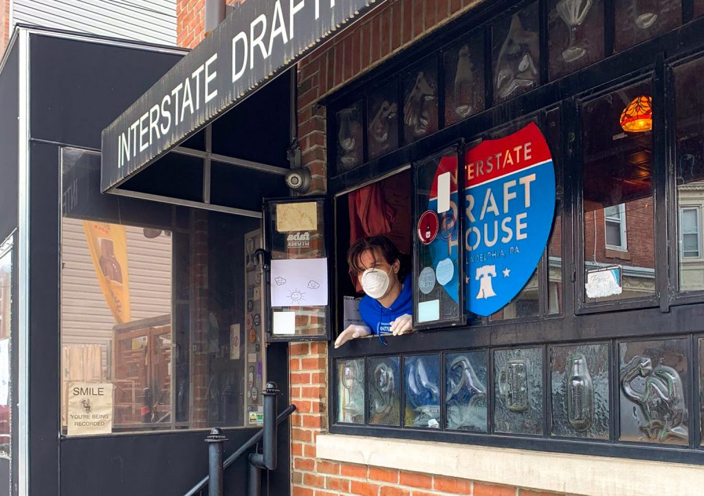 Interstate Drafthouse's to-go pickup window