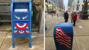 Ballot dropbox outside Philadelphia City Hall