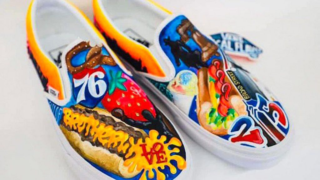 The sneaker design submitted by Strawberry Mansion High School