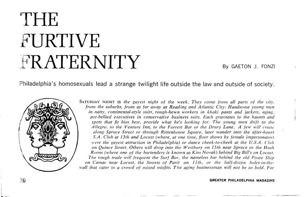 Greater Philadelphia Magazine, 1962