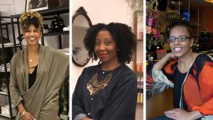 Shanti Mayers of The Sable Collective, Jenea Robinson of Marsh + Mane, Saba Tedla of Booker's Restaurant