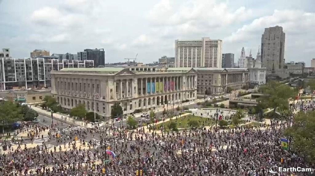 Protesters in Philadelphia on June 6, 2020
