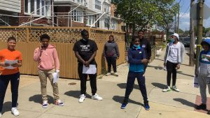 A group of volunteers in South Philly's 48th Ward went door to door to encourage residents to apply for mail-in ballots