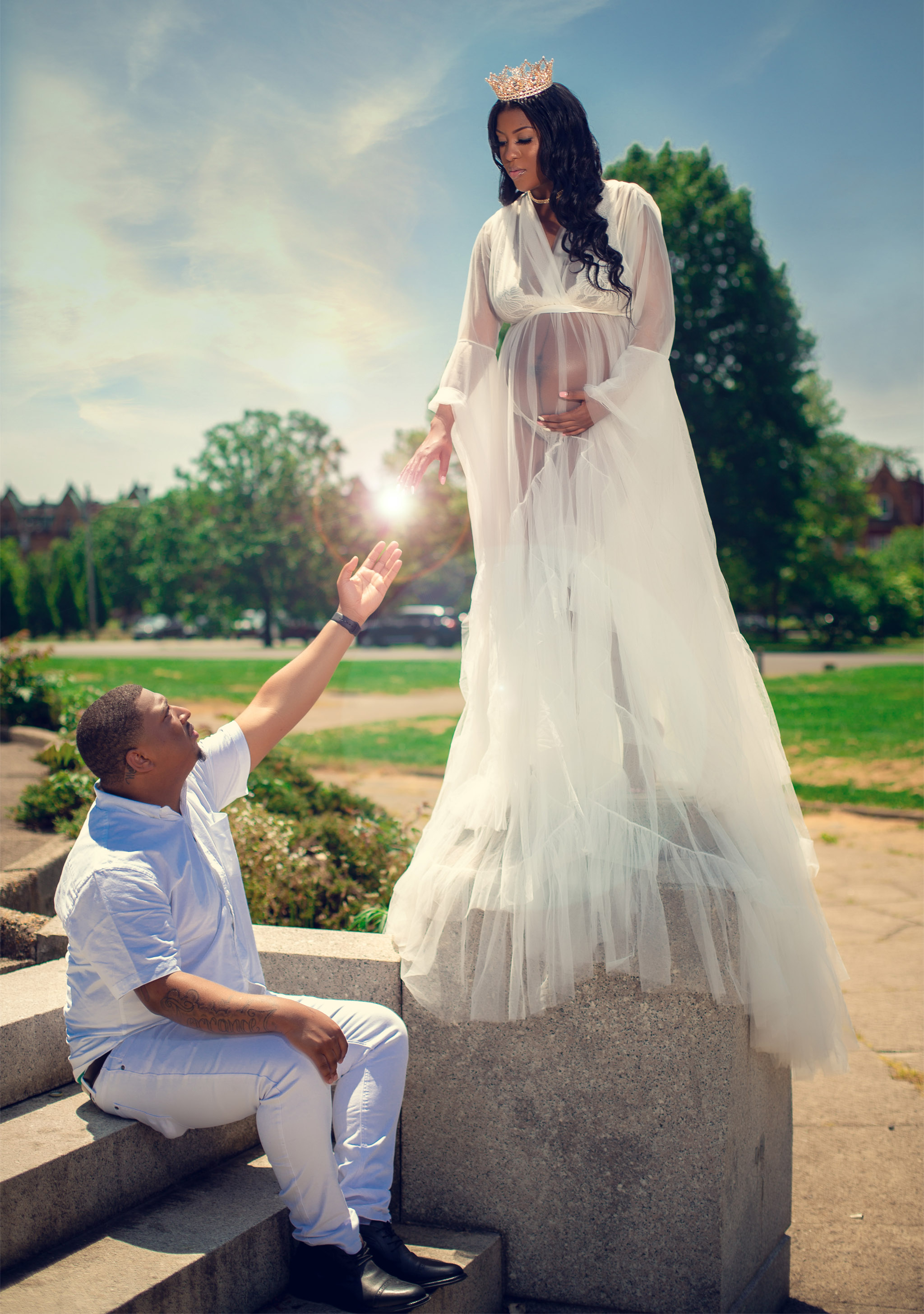 Safety Positivity And Love Philly Couple S Maternity Photos Go Viral With Message Of Hope On Top Of Philly News
