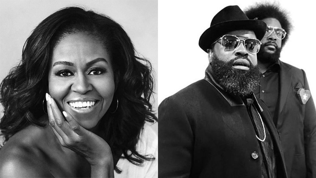 Michelle Obama will join Tariq Trotter and Questlove of the Roots for a virtual GOTV event