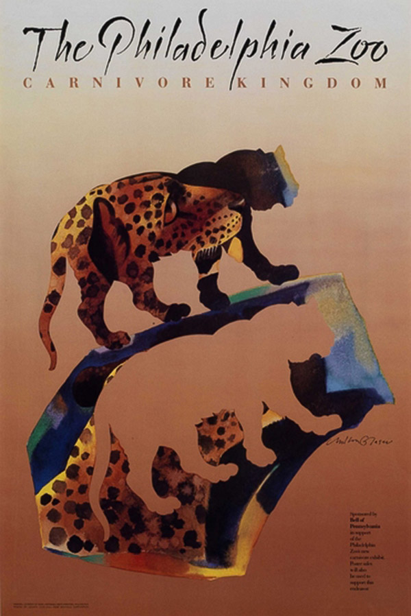 Poster created for the Philadelphia Zoo in 1988 by Milton Glaser