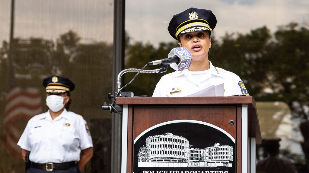 Philadelphia Police Commissioner Danielle Outlaw apologized for the use of tear gas on peaceful protesters on I-676