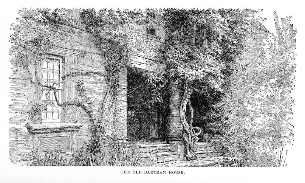 """The Old Bartram Huose"" p. 168. A Sylvan City: or, Quaint Corners in Philadelphia 1883."