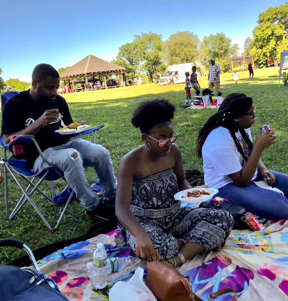 A 2018 family picnic ago at Lemon Hill in Fairmount Park