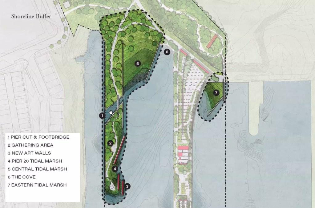 Plans for Pier 20, aka Pebble Beach