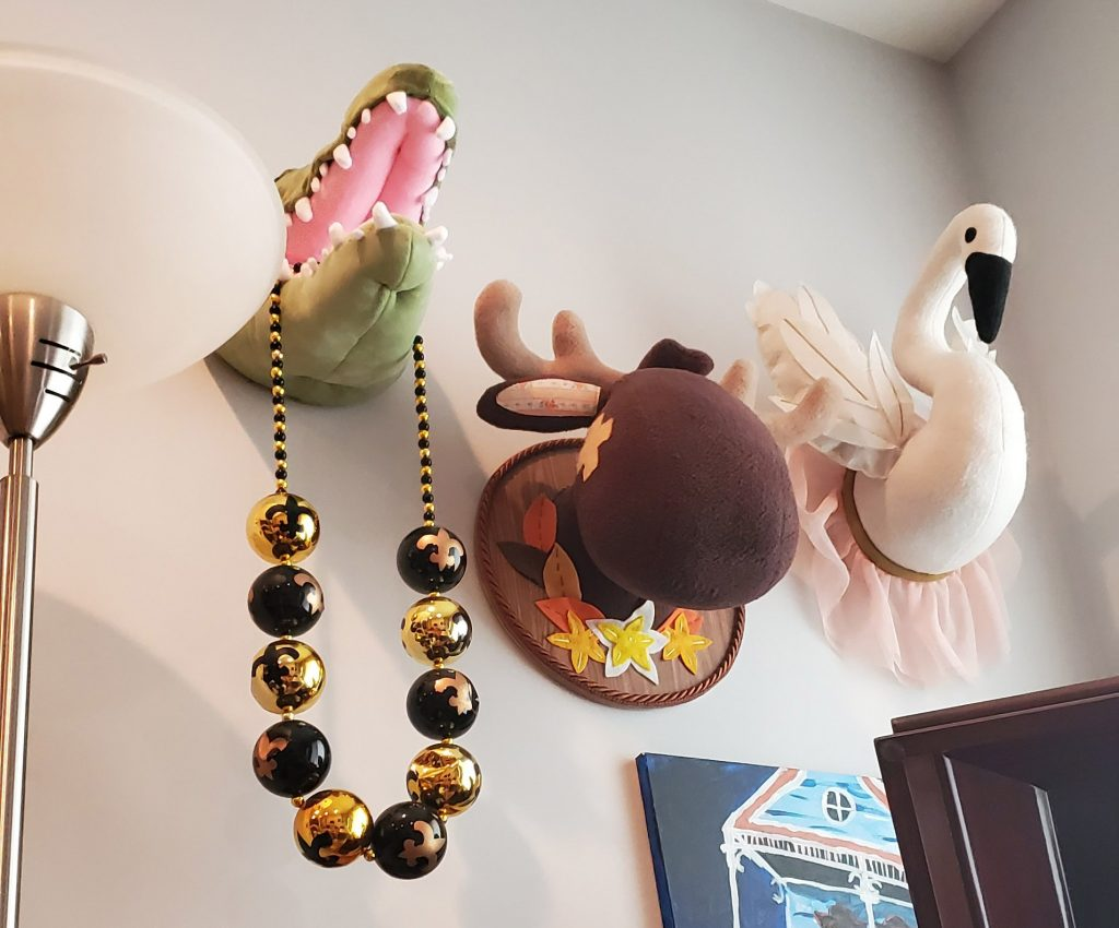 One Philadelphian has doubled her collection of stuffed animal heads in quarantine