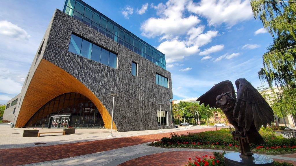 The new Charles Library on Temple University's main campus in North Philadelphia