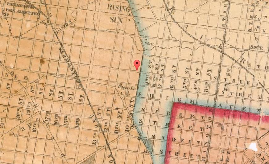 Fairhill Philadelphia in 1855