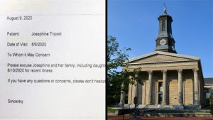Doctor's note that was dismissed by the judge; Chester County Courthouse